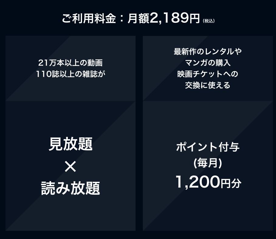 U-NEXt利用料金